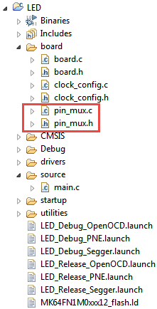 pin muxing in board folder