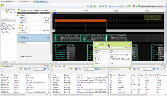 Segger SystemView Data in Eclipse