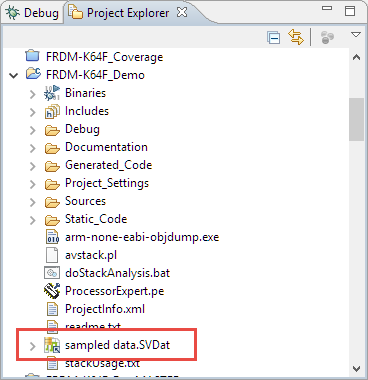 SVDat File in Project