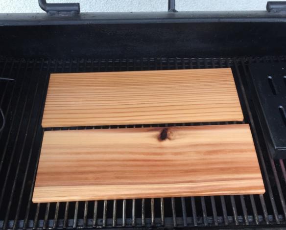 Cedar Planks in Smoker