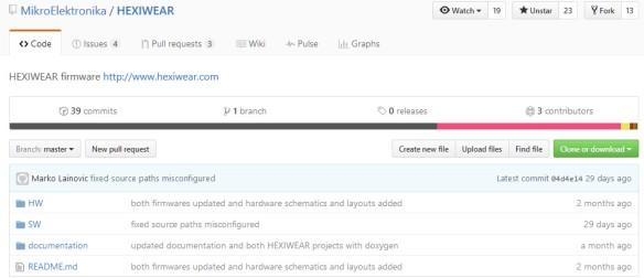 Hexiwear on GitHub