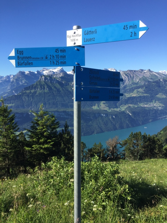 Hochflue Peak Signage