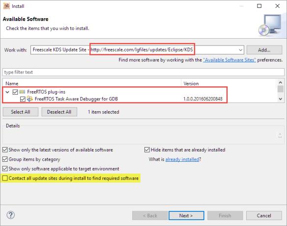 Installing FreeRTOS Plugin