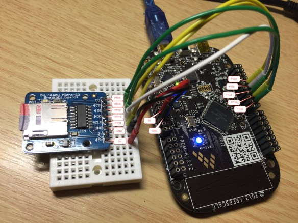 MicroSD Card Breakout Board Wiring Detail