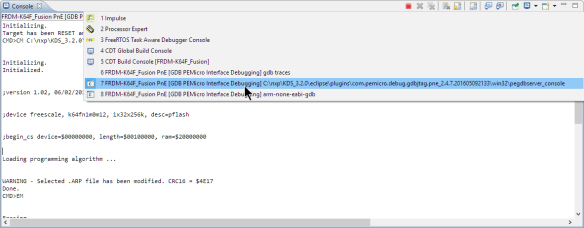 P&E GDB Server Log