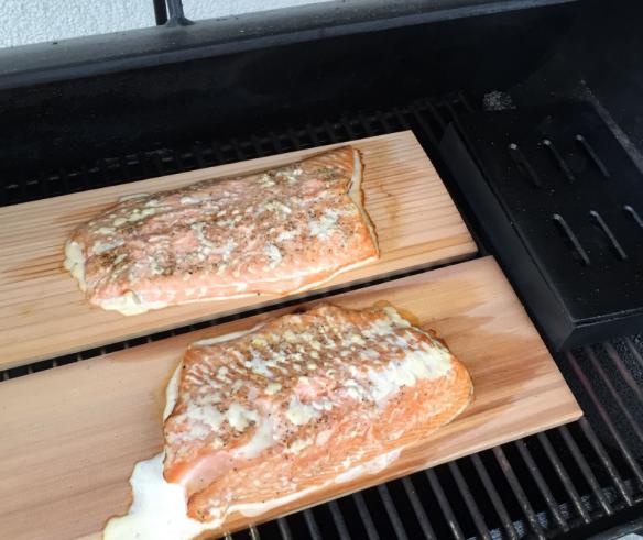 Salmon in Smoker