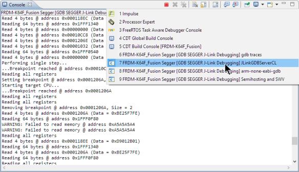 Segger GDB Server Log