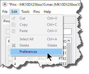 Tools Preferences
