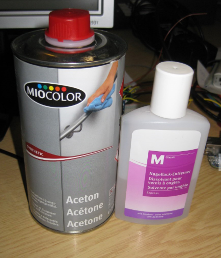 Acetone and Nail Polish Remover