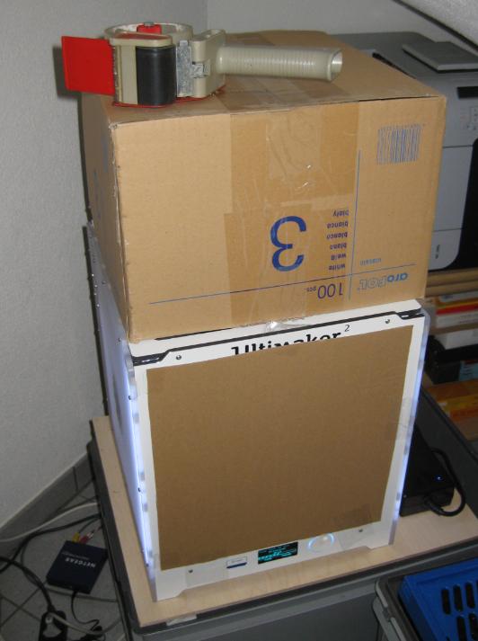 Covered Ultimaker printer