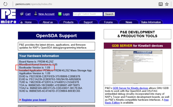 OpenSDA Bootloader Version 1.09
