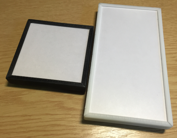 Black One-Unit and White Two-Unit Frames