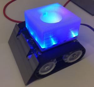 LED effect in blue