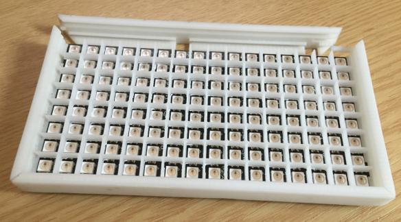 White Frame with White Open Inlay
