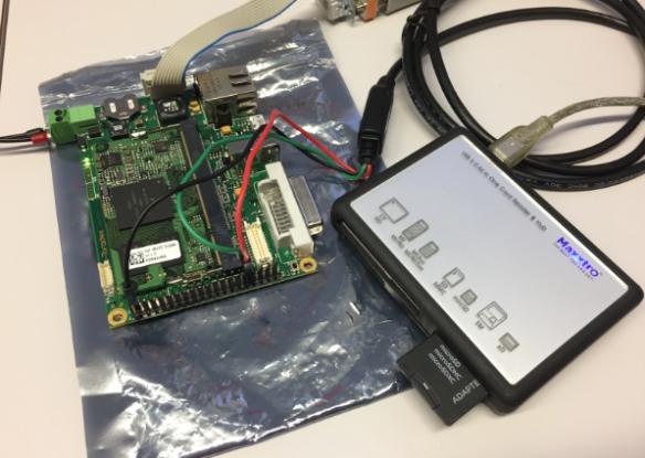 Toradex Coliri with SD Card Reader/Writer