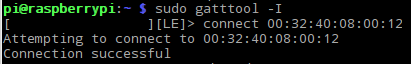 Connecting with gatttool