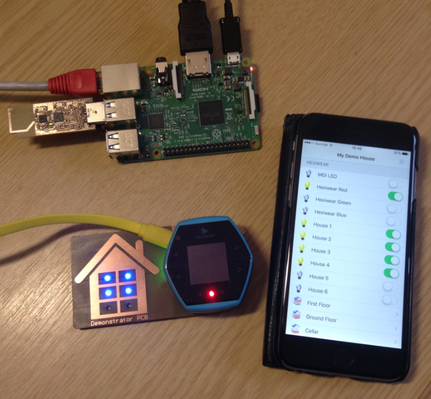 Controlling Hexiwear with OpenHAB