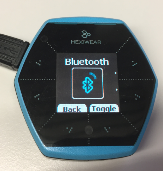 Hexiwear Bluetooth Turned On