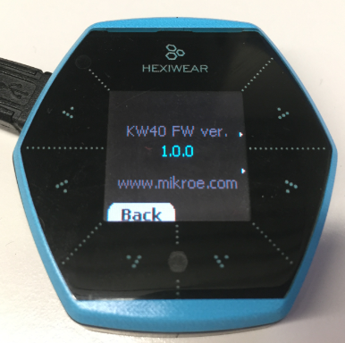 Hexiwear KW40 Firmware Version