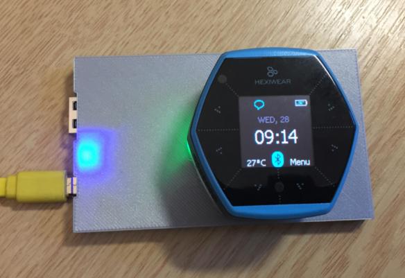 Wireless Qi Charging the Hexiwear