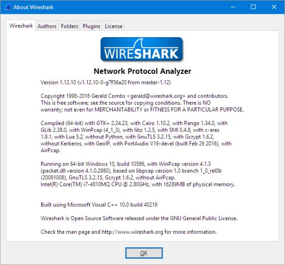 Wireshark Version Used