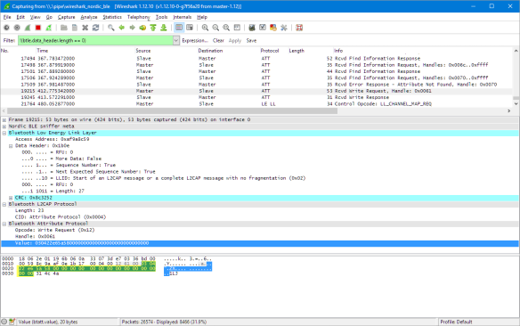 BLE Packet in Wireshark