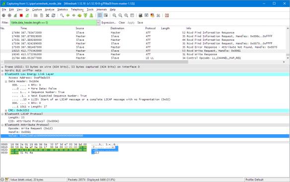 BLE Packet in Wireshark