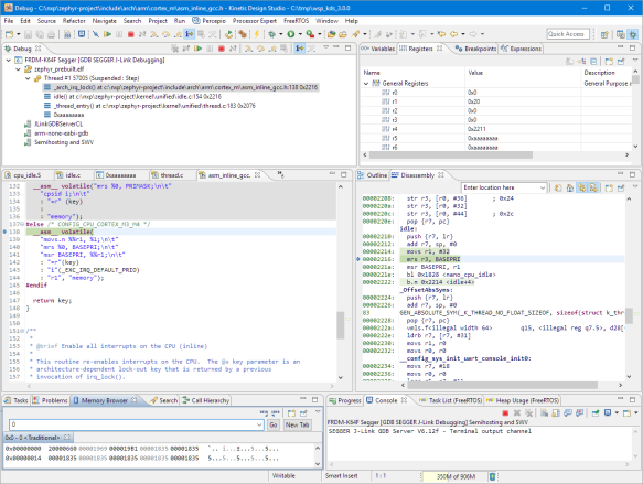 Graphical Debugging Zephyr with Eclipse and GDB