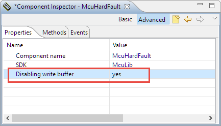 Hard Fault Handler with option to disable write buffer