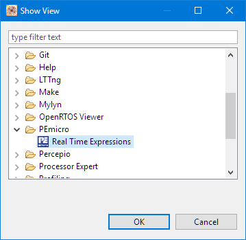 P&E Realtime Expressions View