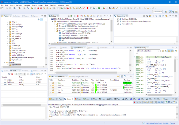 Debugging with MCUXpresso