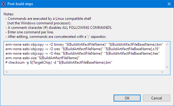objcopy ihex binary options