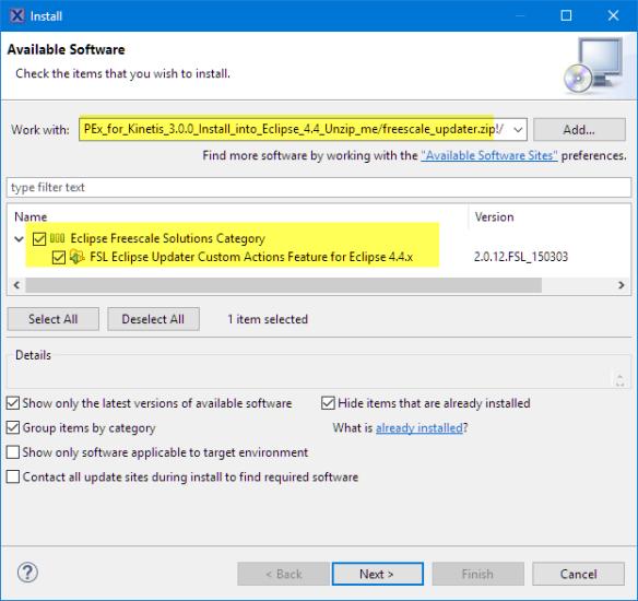 Installing FSL Eclipse Updater