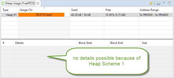 no memory block details for FreeRTOS Heap Scheme 1