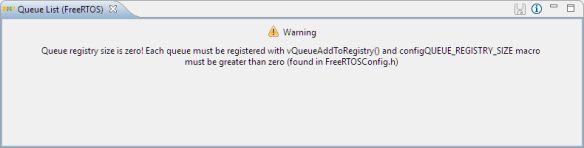 No Queue Registry Information