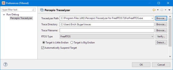 Tracealizer Preferences