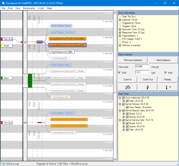 Tracealizer with FreeRTOS Application