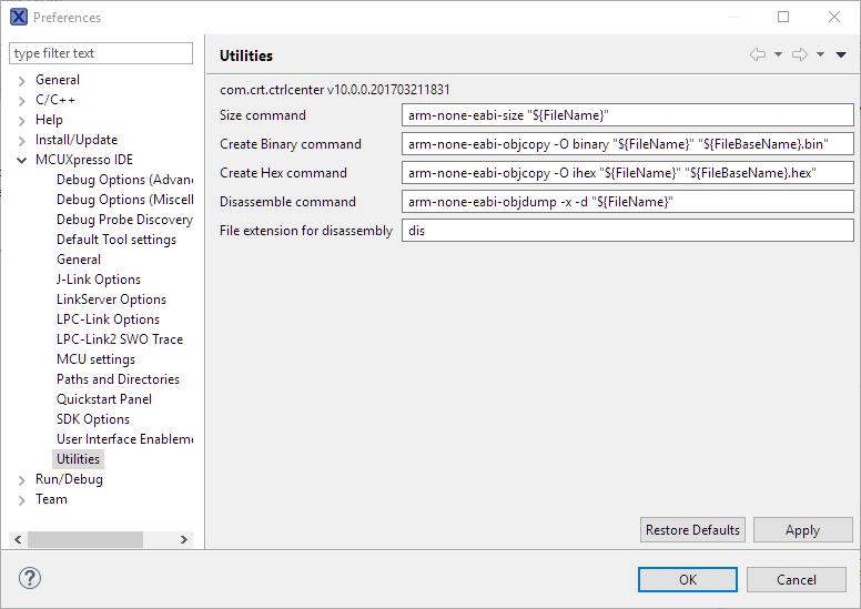 MCUXpresso IDE: S-Record, Intel Hex and Binary Files | MCU
