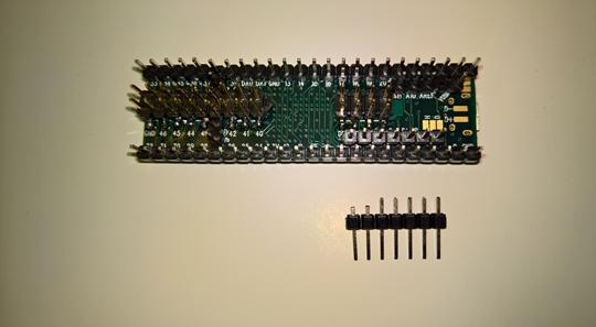 Cut down pins for Teensy debugging