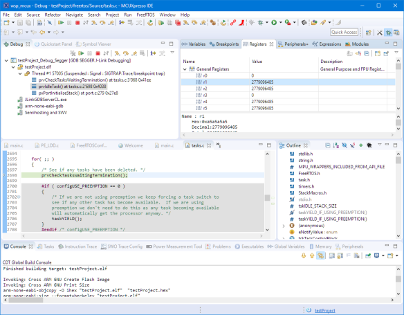 Debugging KDS Project in MCUXpresso IDE
