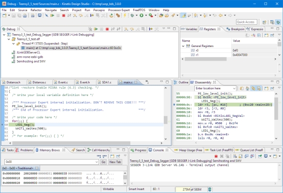 Debugging Teensy 3.5 with Eclipse and GDB
