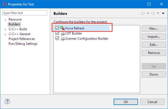 Force Refresh Action in Builder