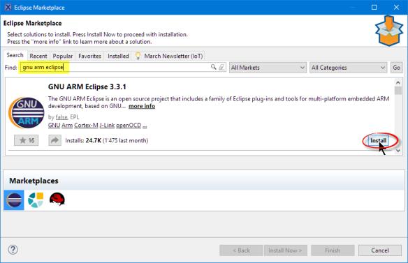 GNU ARM Eclipse in Eclipse Marketplace