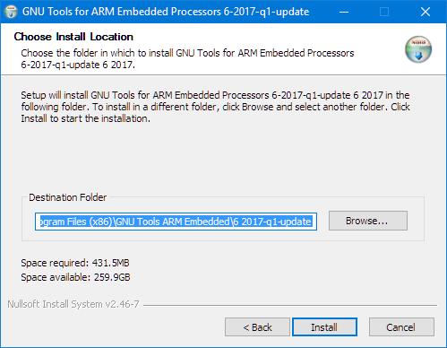 Installing GNU ARM Embedded Toolchain