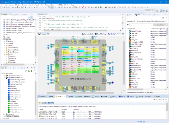 Processor Expert in MCUXpresso IDE