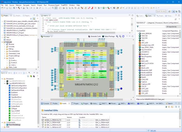 Processor Expert in MCUXpresso IDE