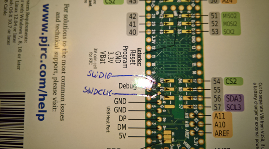 Modifying the Teensy 3 5 and 3 6 for ARM SWD Debugging | MCU on Eclipse