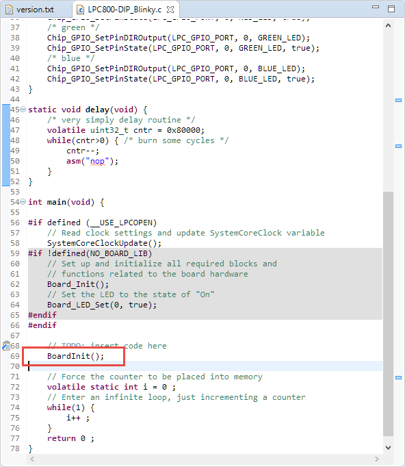 MCUXpresso IDE: Blinky the NXP LPC800-DIP Board   MCU on Eclipse