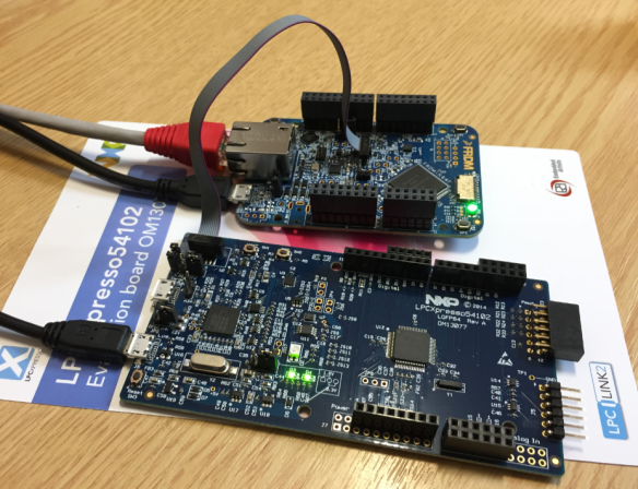 Debugging NXP FRDM-K64F with MCUXpresso Board