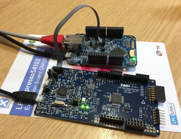 Debugging NXP FRDM-K64F with MCUXpresso Board